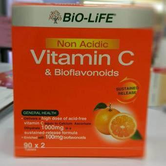 Bio-Life non-acidic Vitamin C & Bioflavanoids 90Tabsx2