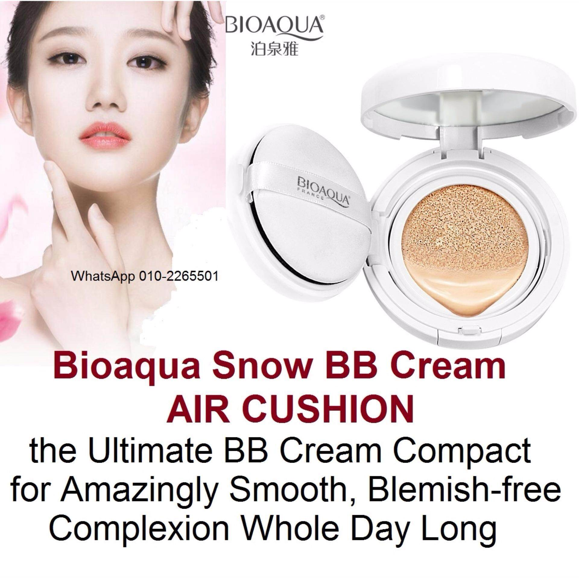 Bioaqua Snow Bb Cream Air Cushion Spf50 Extreme Bare Make Up Foundation Light Skin Complete Coverage Compact Natural
