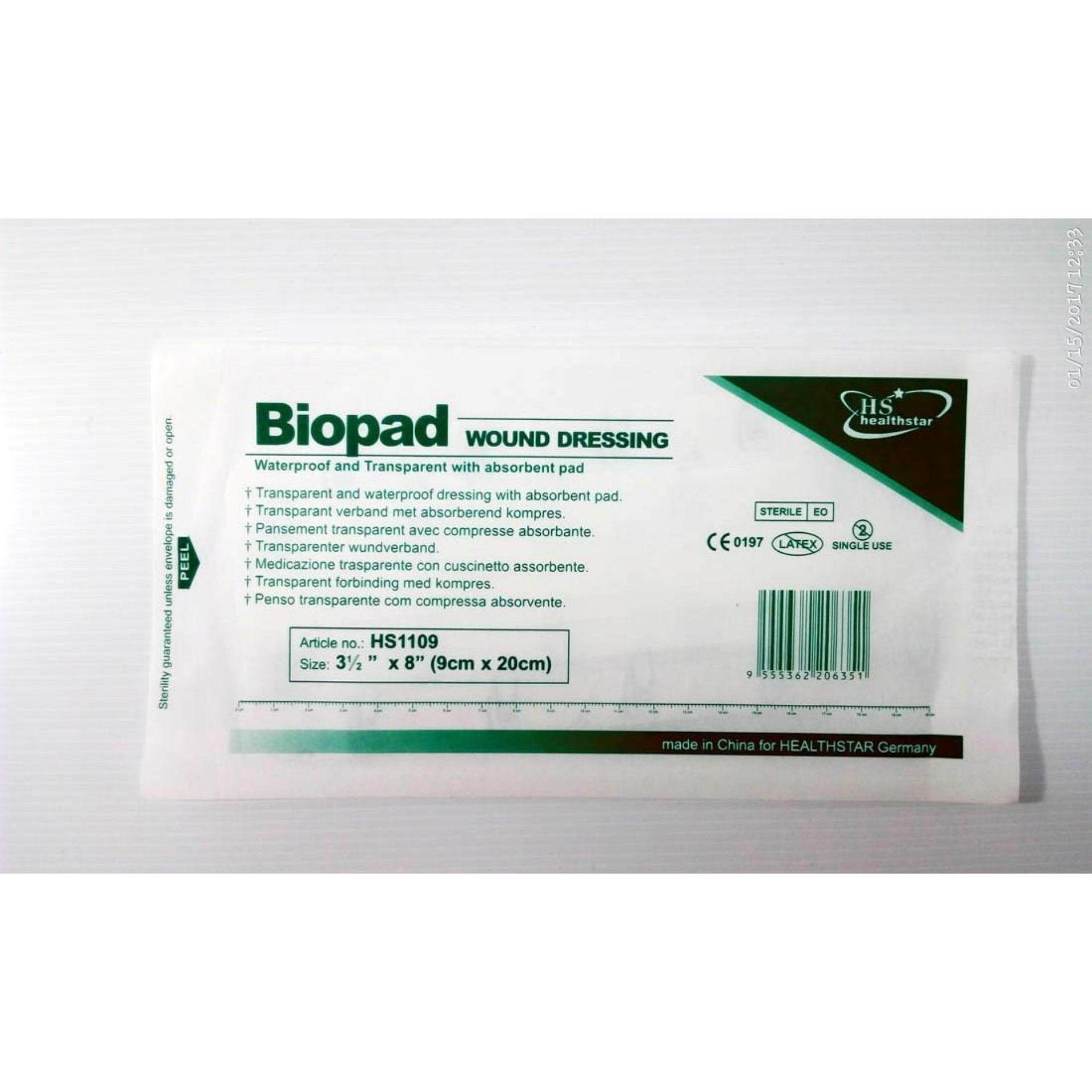 Biopad Wound Dressing Plaster 9cm X 20cm Extra Long X 3pieces