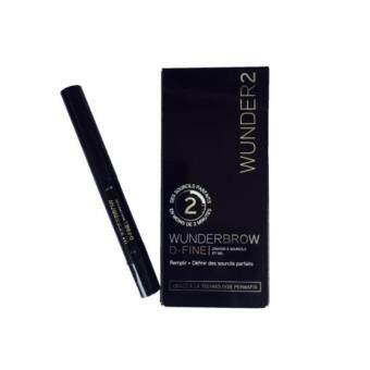 Harga Black/Brown WUNDER2 Wunderbrow Long Lasting Waterproof EyebrowPermanent Eyebrow Cream Double Head Eyebrow Gel