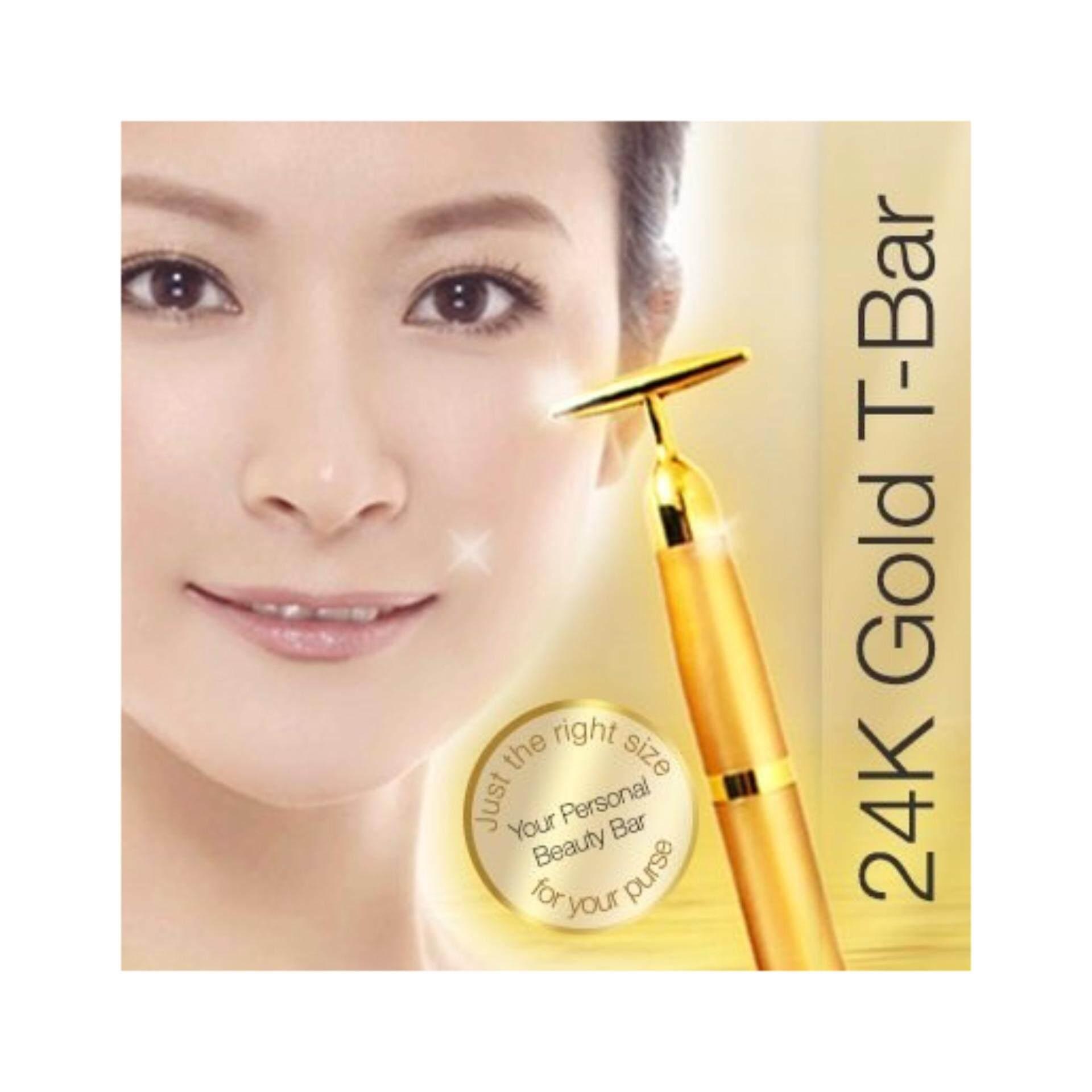 Electric Energy Beauty Bar 24K Gold Face Skin Massage Roller Derma Body Firming Massager