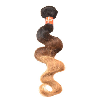 Harga Bluelans 14Inch 1 Bundle Brazilian Virgin Body Wave Real Human Ombre Weft Hair Extesions