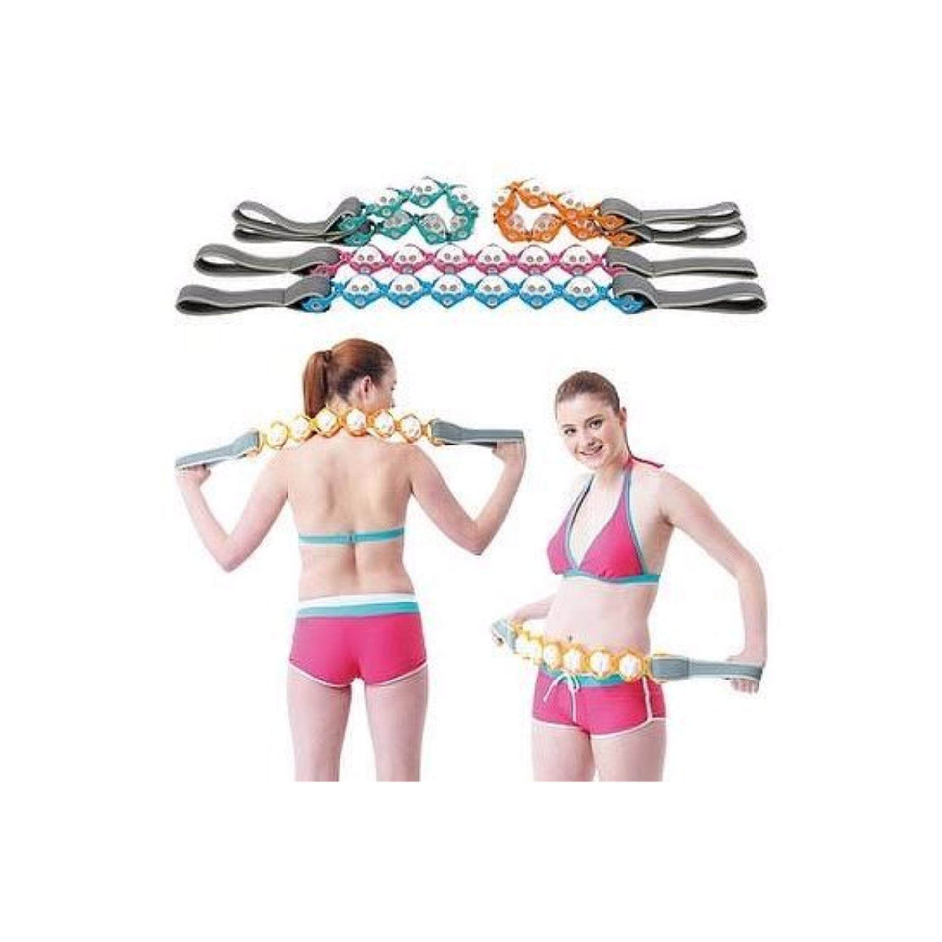 (Blue Colour)Massage Rope Yoga Roller Belt for Slimming, Anti Cellulite, Circulation, Exercise & Relieve Sore Muscles Aches and Pains