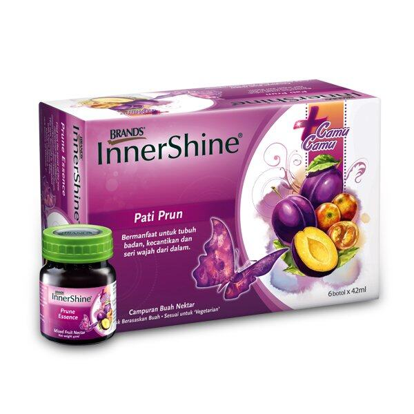 BRAND'S InnerShine Prune Essence (1x6's) + InnerShine Berry Essence (1x6's) - 12 bottles x 42ml