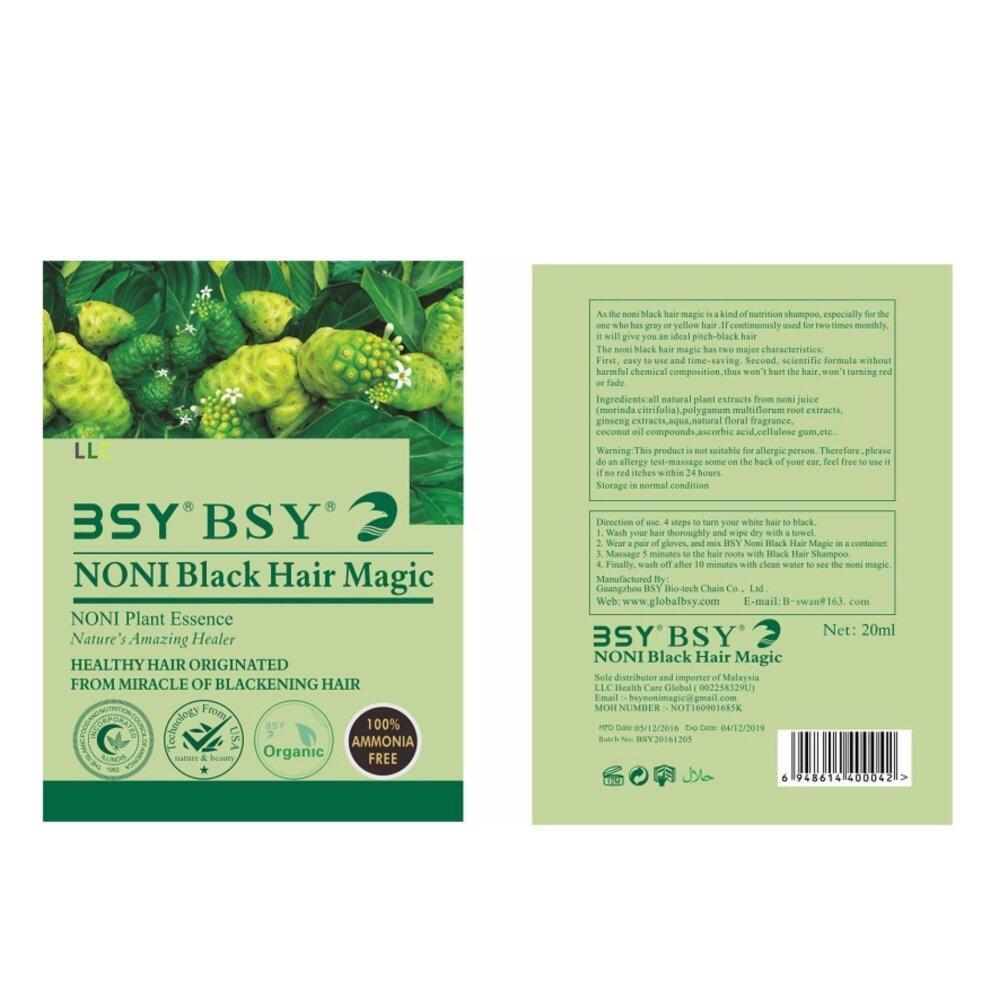 BSY NONI BLACK HAIR MAGIC 100%Genuine from BSY 20 ml per sachet