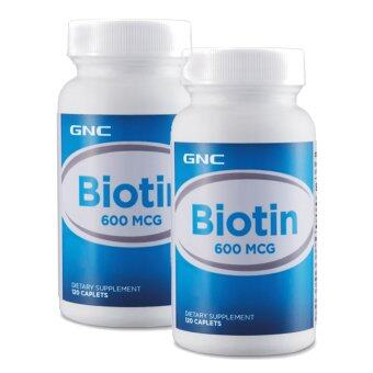 Harga [Bundle Deal] 2 x GNC Biotin 600mcg 120 tablets