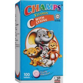 CHAMPS C VITAMIN C WITH LYSINE TAB 100'S
