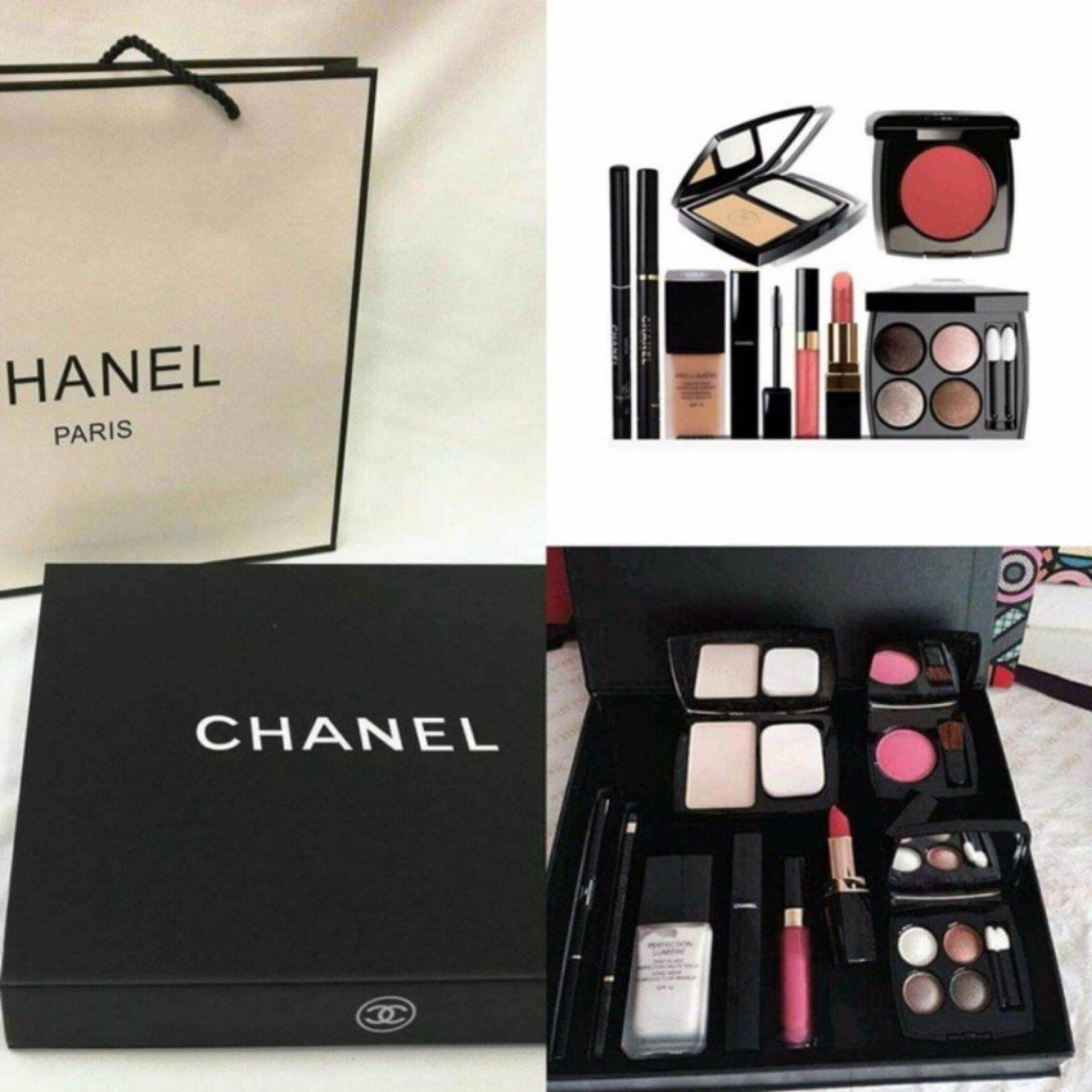 Chanel 9 In 1 Make Up Set (Lipstick Blusher Cpmpact Powder Eyeliner Lipgloss Foundation )
