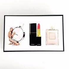 chanel gift set. chanel gift set 3 in 1 with chance 15ml perfume,coco madmosile perfume and lipstick t
