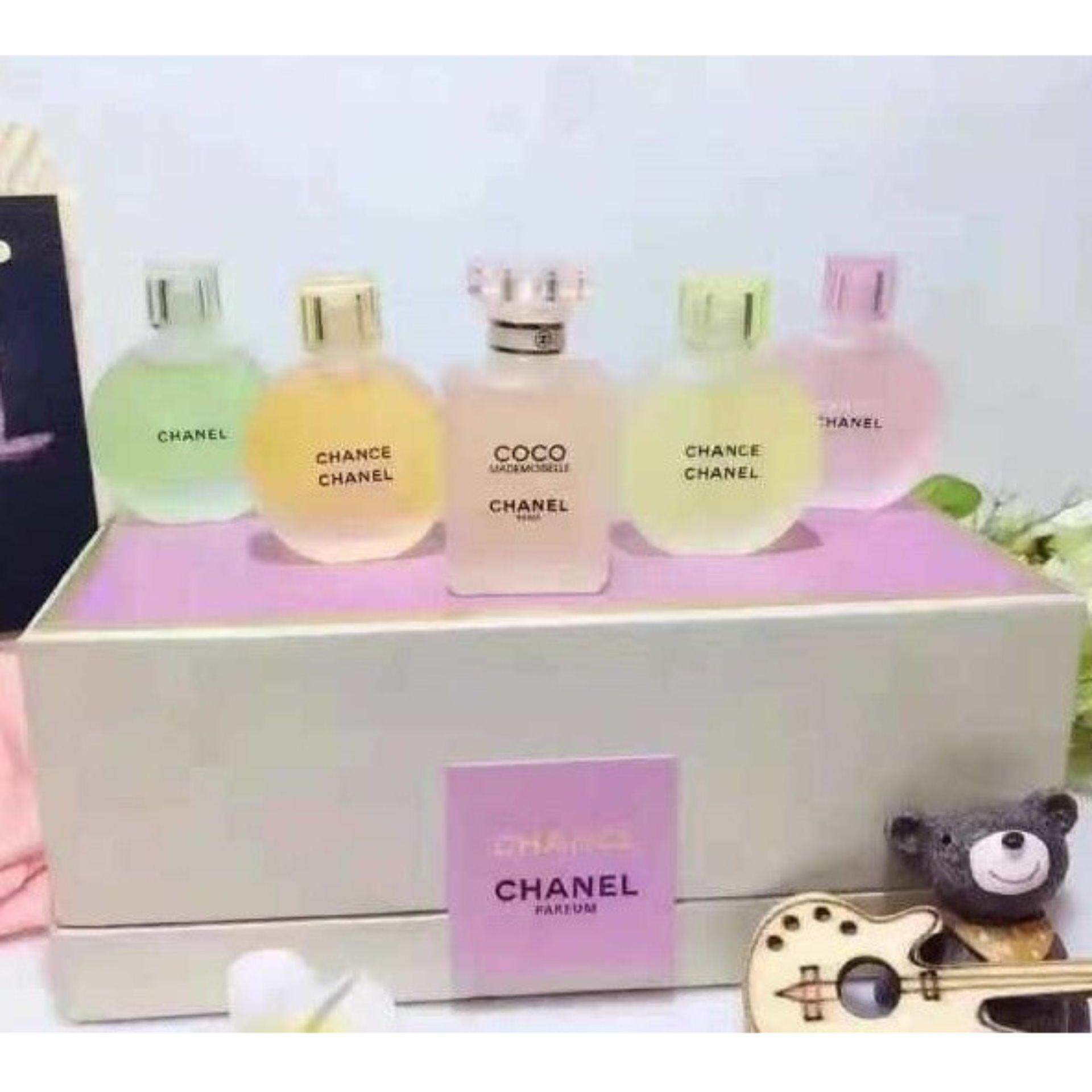 fe75ad25317 Chanel Limited Edition 5 in 1 Perfume Travel Set Chance and Coco  Mademoiselle- RARE