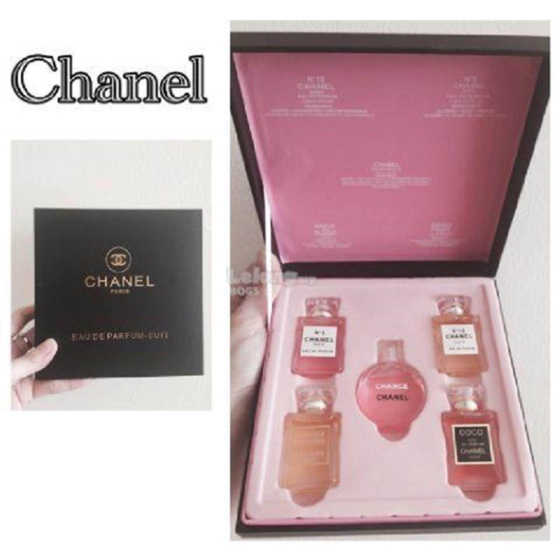 Chanel Travel Perfume Set of 5- PREMIUM GIFT BOX (Clearance Sale Below Cost)