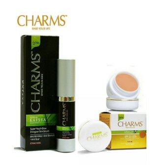 Harga Charms Foundation White Dolly + Charms Kaisya Serum Combo Set