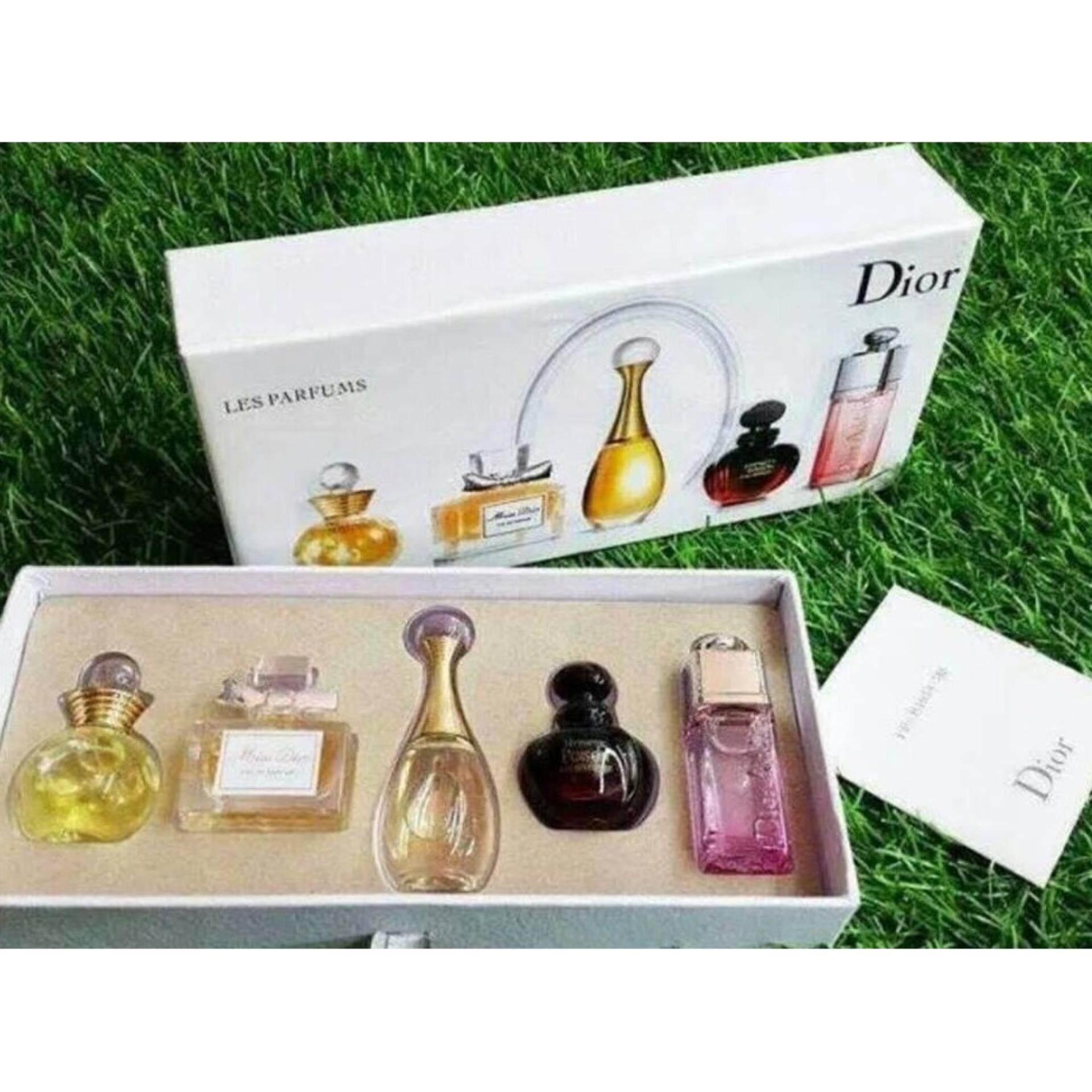 Christian Dior 5 in 1 Perfume Miniature Set- Imported Sets (Clearance Way Way Below Cost )