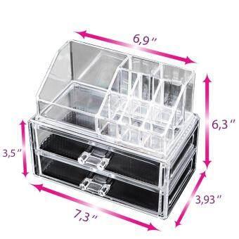 ... Nail Varnish Polish Case Container. [19cmx10cm] Clear Acrylic Cosmetic Organizer Makeup Organiser Jewelry Storage Box Drawer Lipstick Brush Holder  sc 1 st  Senarai Harga 2018 & 4 Layers Clear Cosmetic Drawers Jewelry Makeup Storage ...