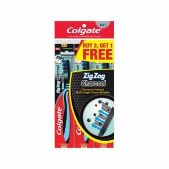COLGATE ZigZag Charcoal Toothbrush 3S