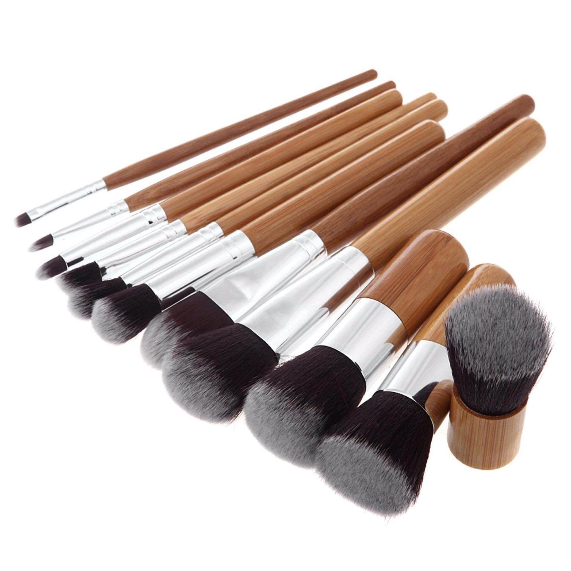 635e221063d3 Cosmetic New 12 Piece makeup make up Brush Set Bamboo Handle Premium  Synthetic Kabuki Foundation Blending Blush Concealer Eye Face Liquid Powder  Cream ...