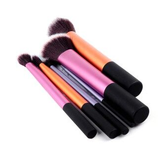 Harga Cosmetic New 6 pcs Set Pro Techniques Powder Cosmetic makeup makeup Blush Brushes Foundation