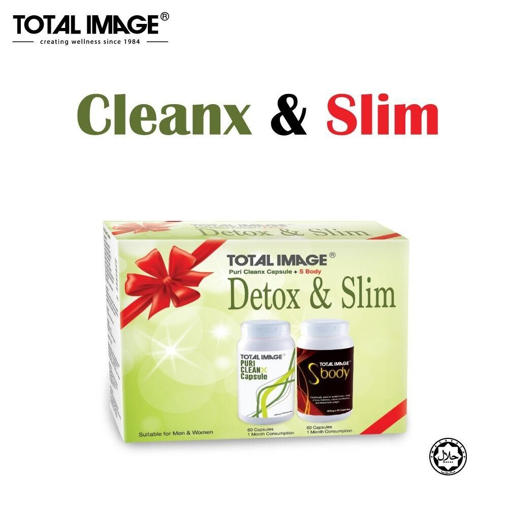 [Detox & Slim Set] Total Image Puri Cleanx 60 caps + S Body 60 caps