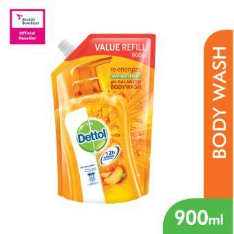 Harga Dettol BodyWash Re-energize 900ml Value Refill Pouch -3038614