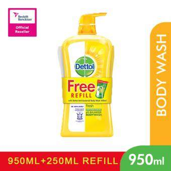Harga Dettol Shower Gel 950ml+250ml Fresh