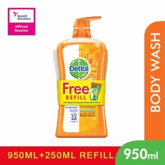 Harga Dettol Shower Gel 950ml+250ml Re-energize