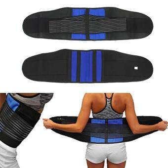 Detail Gambar Produk Double Pull Lower Back Support Brace Lumbar Waist Support BeltBreathable Band Produk Terbaru