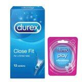 Durex Close Fit 12s Condom + Durex Play Vibration Ring