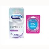 Durex Invisible Extra Lubricated Condoms 10s + Durex Play Vibrating Ring