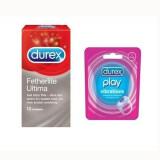 Durex Vibrating Ring + Durex Fetherlite Ultima Condoms 12s