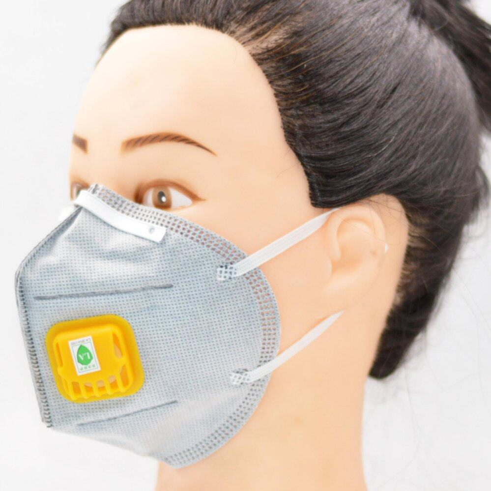 Dust Mask Respirator Gas Mask Double Valve N95 Activated Carbon Anti- haze Industrial Dust Mouth (Most Budget)