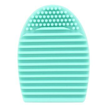 Harga Egg Cleaning Glove MakeUp Washing Brush Scrubber Board Cosmetic Brush egg(Light green)