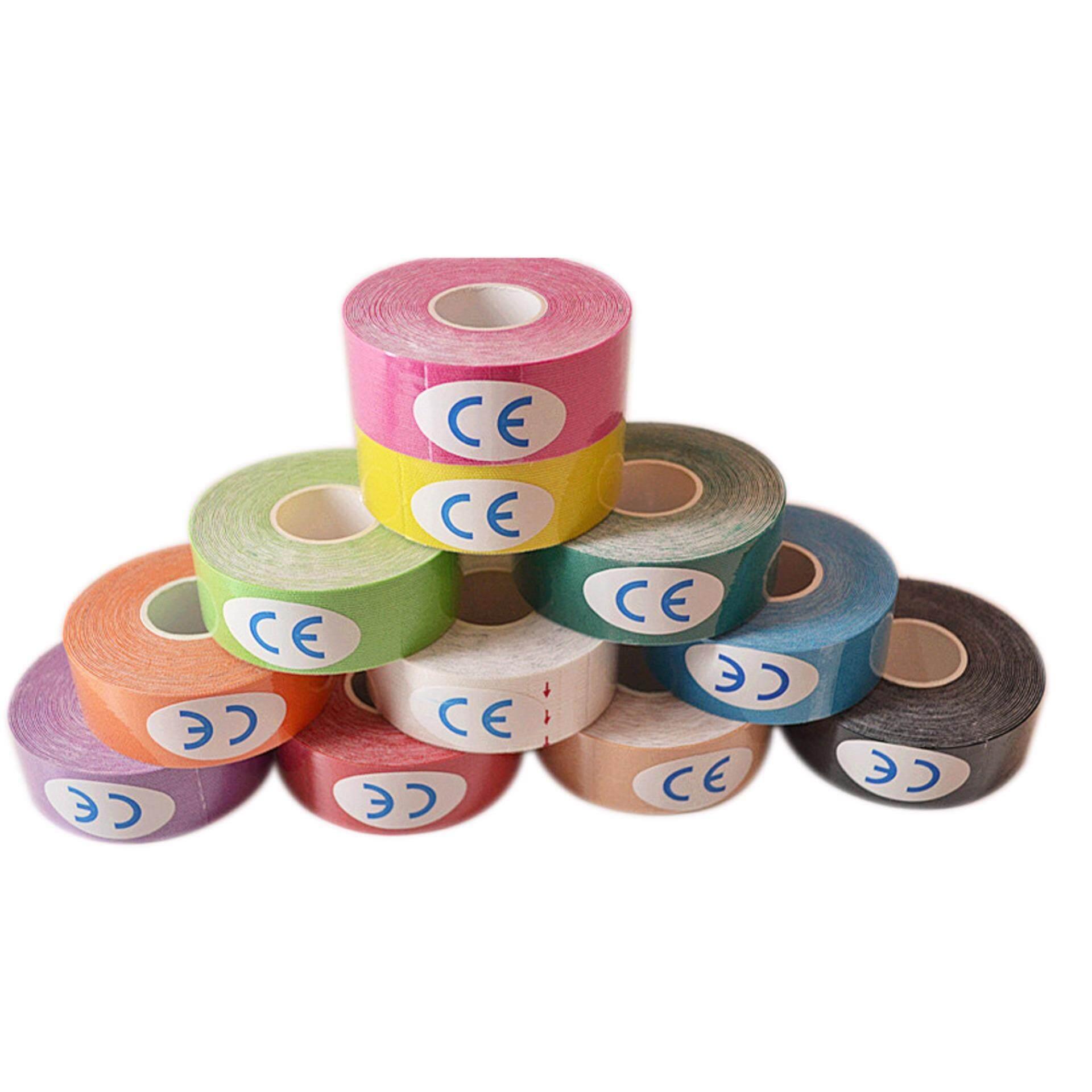 Elastic Kinesiology Sports Therapeutic Bandage Sport Tape 2.5 CM X 5 M (Buy 1 Free 1)