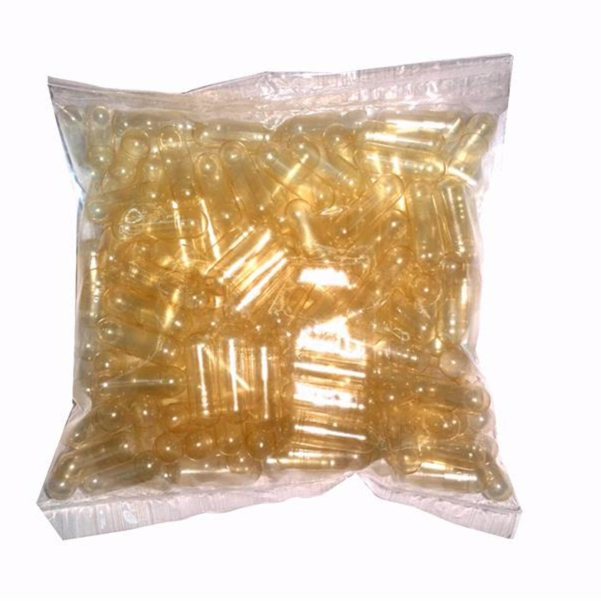 Empty Gelatin Capsules Transparent Size 0 500s (Halal)