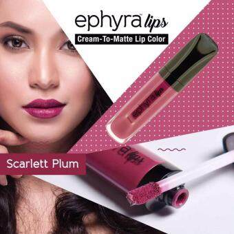 Harga EPHYRA LIPS CREAM TO MATTE [Scarlett Plum]