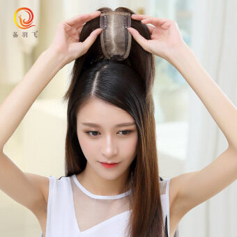 Equipment feather fly darn cover the gray hair real hair Hair pieces bangs piece