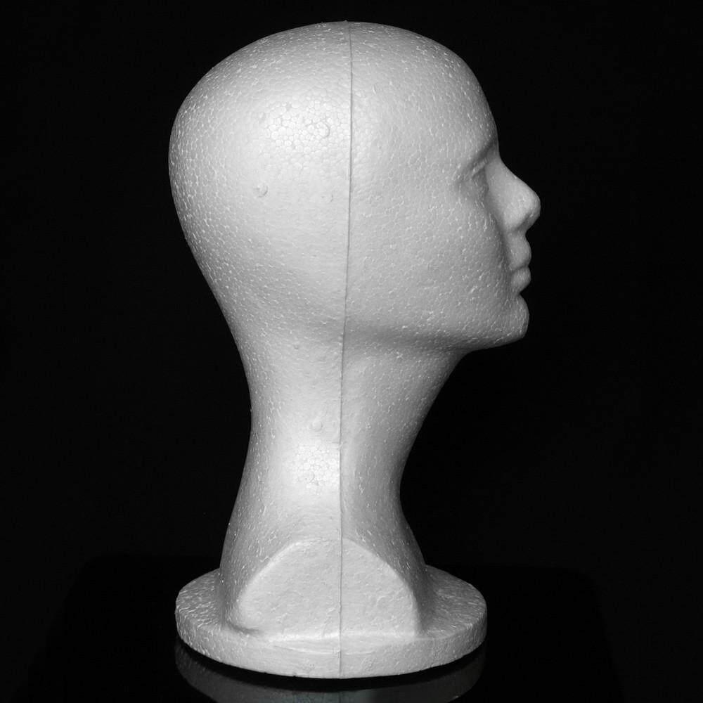 Female Styrofoam Hat Glasses Hair Wig Mannequin Stand Display Head Model Chest - intl