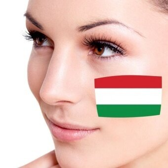 Flag of Hungary facial tattoo Temporary Tattoo Body Art FlashTattoo Stickers Water transfer Removable Tatoo Sticker