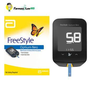 FreeStyle Optium Neo Blood Glucose and Ketone Monitoring System +25 glucose strips +2 insulin needles (Lifetime warranty)