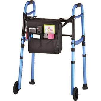 [. Amerika Serikat] Produk Medis Nova Perjalanan Lipat Walker dengan Roda, Meluncur Ski dan Mobilitas Tas, Biru, 7 Pound B06XBY1BQC-Internasional