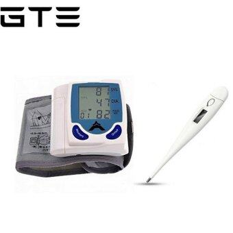 GTE Bundle Deal- Digital Wrist Blood Pressure Monitor & HeartBeat Meter And Home Digital Thermometer