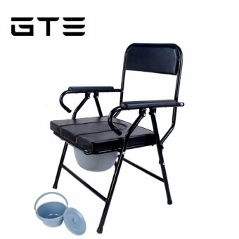 GTE Foldable Toilet Commode Toilet Chair Medical Chair Medical Toilet Chair Children Adult With Bucket