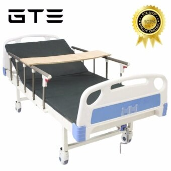 Harga GTE Manual Single-Crank Medical Care Bed Hospital Bed Home Care With Mattress