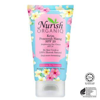 Harga Halal & Organic Whitening : Nurish Organiq [Official] Brightening Day Cream SPF20 40ml