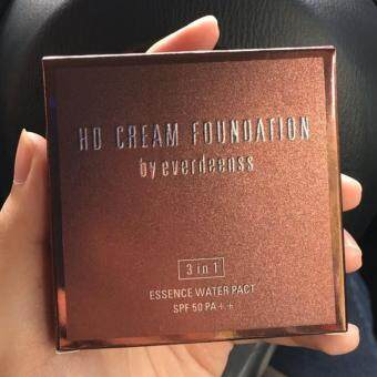 Harga HD Cream Foundation by Everdeenss (Code 01 Ivory) SPF50 3in1 Essence Water Pact SPF 50 PA++