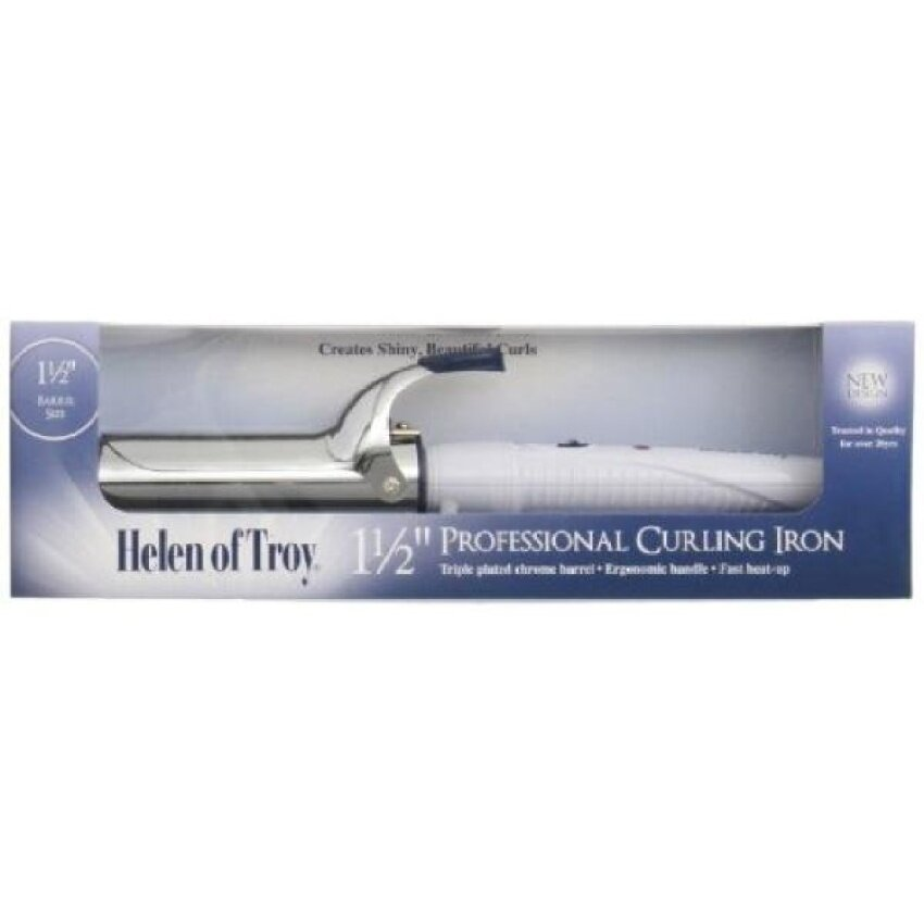 Helen Of Troy 1518 Spring Curling Iron. White. 1 1/2 Inches Barrel(OVERSEAS) - intl