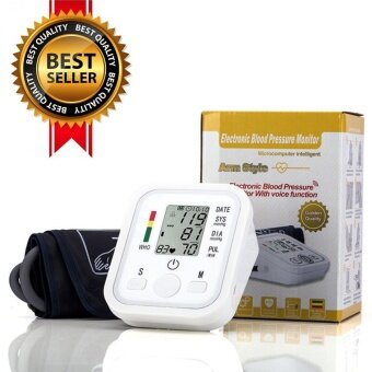 Harga Home Care Digita LCD Arm Blood Pressure Monitor TonometerSphygmomanometer Aleti Gauge BP Monitor Heart Beat Meter Machine