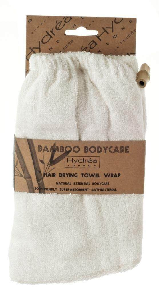 Hydrea London Natural Bamboo Super Absorbent Hair Drying Towel Wrap Super Soft - intl