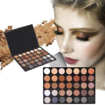 Harga 35 Colour Pigmented Eyeshadow Palette Nature Glow Eye Shadow Comestic Sets