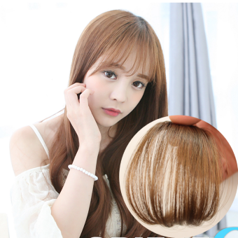 Harga Cute Short Neat Bangs Clip on Front Neat Bang Fringe Clip In Hair Extensions -Light brown
