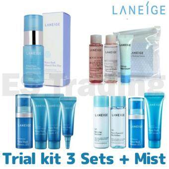 Harga Laneige Trial kit 3 Sets + Mist + Free Gift / Waterbank / Cleansing / Moisture / Mist